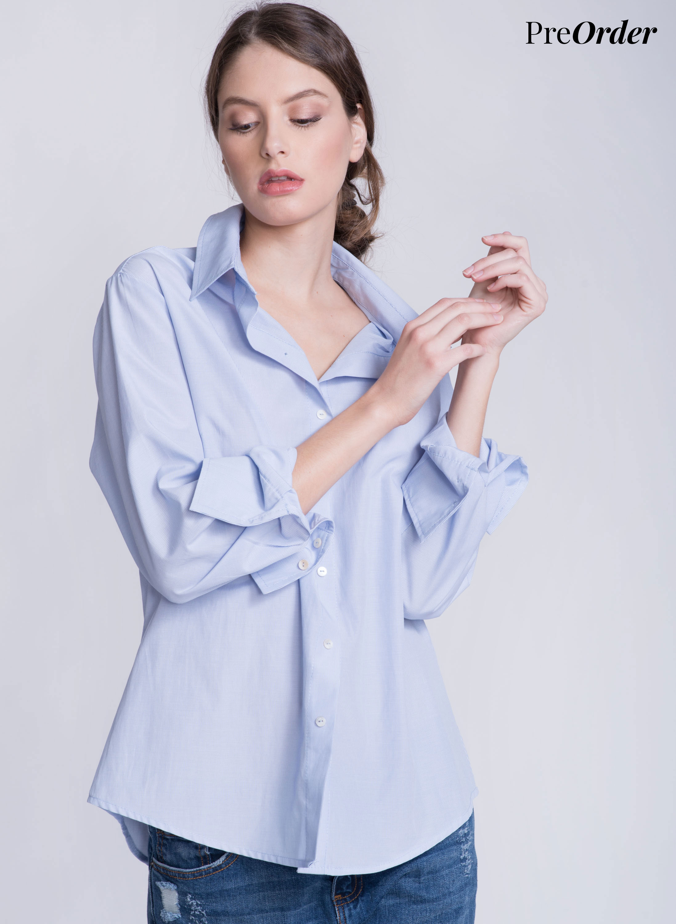 JO Button Down Shirt | Baby Blue | PreOrder 1