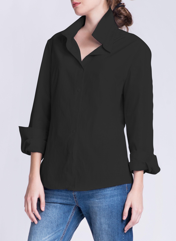JO Button-down Shirt | Black 1