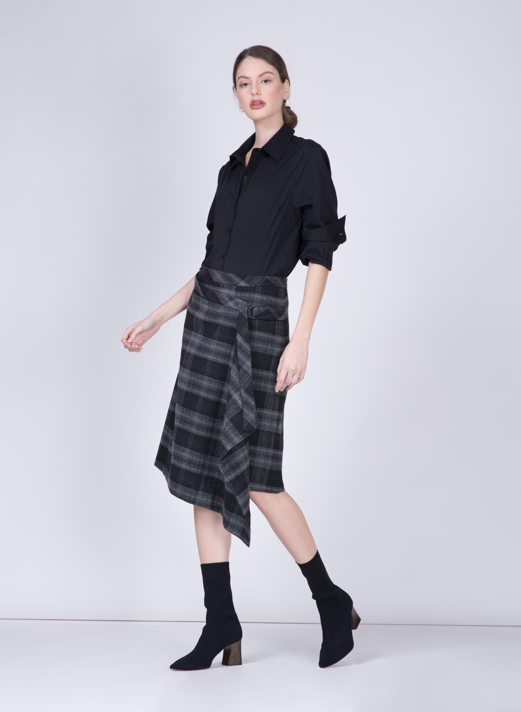 חצאית AMBER | משבצות | PreOrder