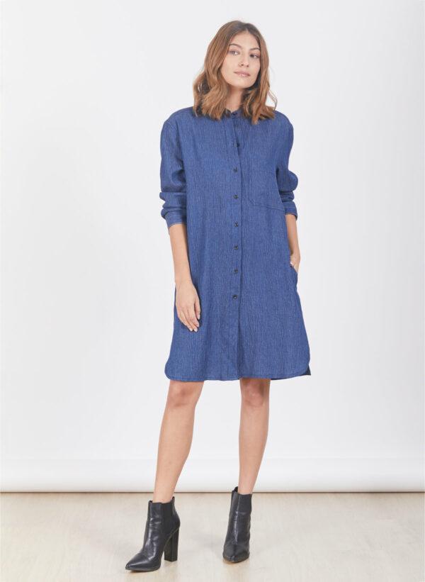 שמלה   DAKOTA   ג'ינס כחול