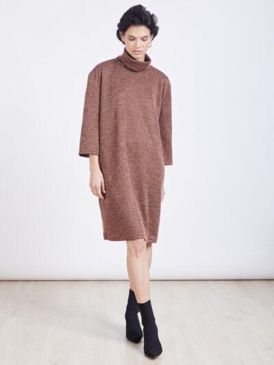 שמלה   NINA   חום