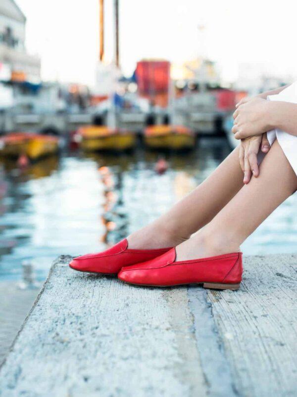 נעליים | מוקסין | אדום